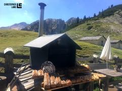Fojedöra Alm in Südtirol Holzbackofen