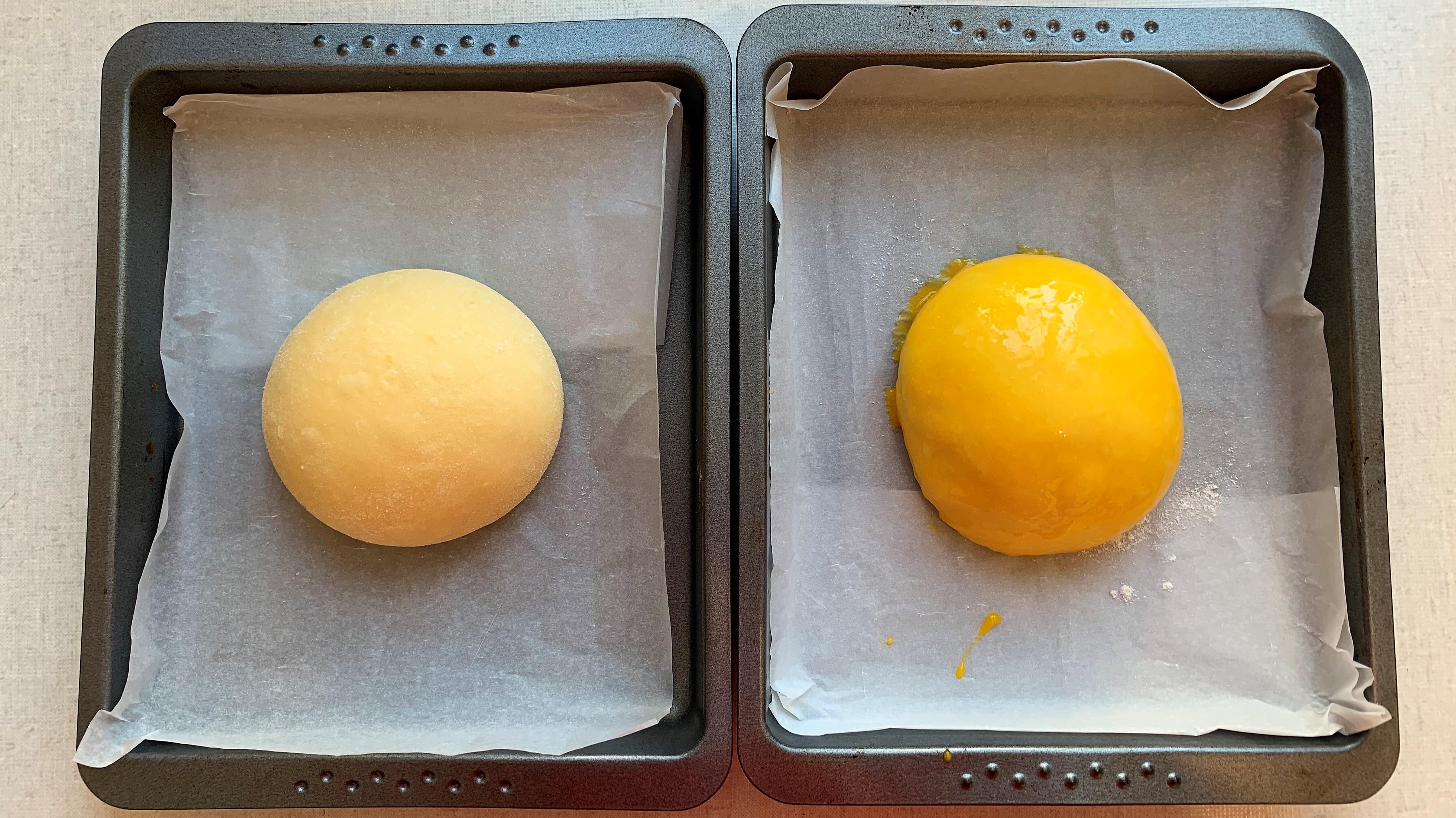 Osterpinze mit Eigelb